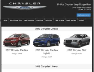 phillipschryslercars.com screenshot