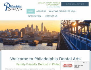 phillydentalarts.com screenshot