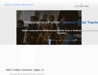 phillyguitarlessons.com screenshot