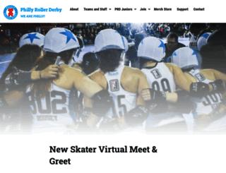phillyrollerderby.com screenshot