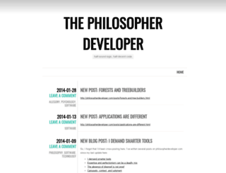 philosopherdeveloper.wordpress.com screenshot
