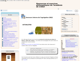 philosophie.ac-creteil.fr screenshot