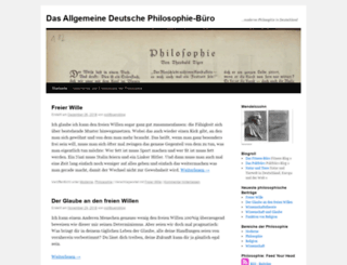 philosophiebuero.wordpress.com screenshot