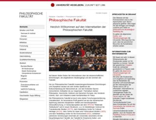 philosophische-fakultaet.uni-hd.de screenshot