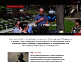 philosophy.bard.edu screenshot