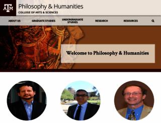 philosophy.tamu.edu screenshot
