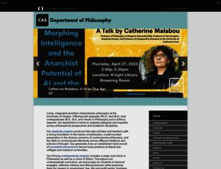 philosophy.uoregon.edu screenshot