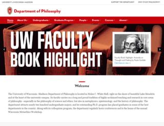 philosophy.wisc.edu screenshot