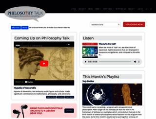 philosophytalk.org screenshot