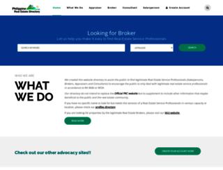 philrealestatedirectory.com screenshot