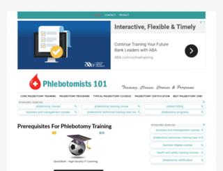 phlebotomists101.com screenshot