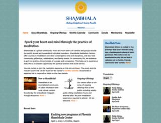 phoenix.shambhala.org screenshot