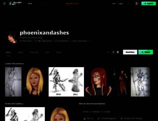 phoenixandashes.deviantart.com screenshot