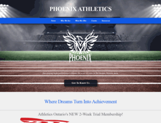 phoenixathletics.ca screenshot