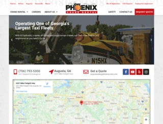 phoenixcraneaugusta.com screenshot