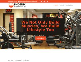 phoenixfitnessstudio.com screenshot