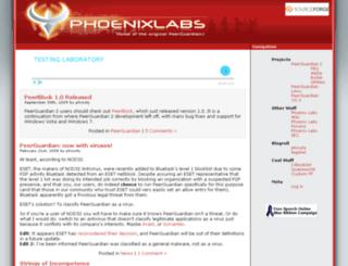 phoenixlabs.org screenshot