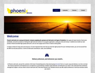 phoenixlubricants.co.uk screenshot