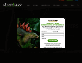 phoenixzoo.org screenshot