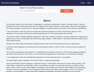 phone-area-code-dialing.com screenshot