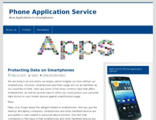 phoneapplicationservice.org screenshot