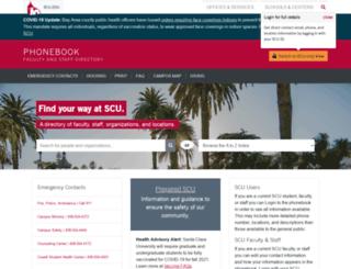 phonebook.scu.edu screenshot