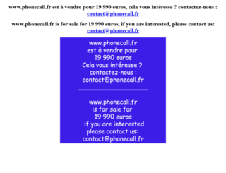 phonecall.fr screenshot