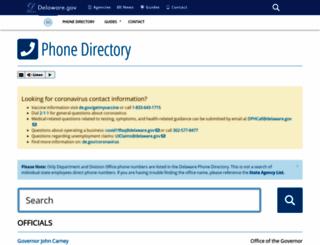 phonedirectory.delaware.gov screenshot