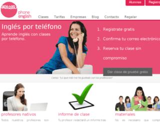 phoneenglish.vservers.es screenshot