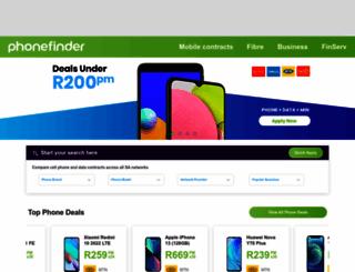 phonefinder.co.za screenshot