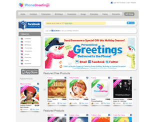 phonegreetings.com screenshot