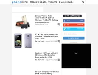 phoneintro.com screenshot