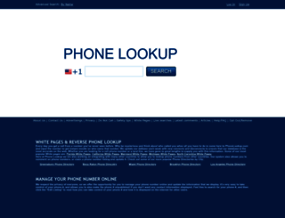 phonelookup.com screenshot