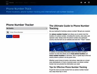 phonenumbertrack.com screenshot