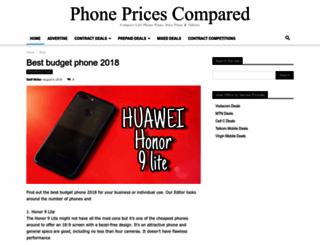 phonepricescompared.co.za screenshot