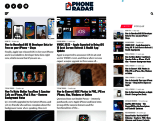 phoneradar.com screenshot