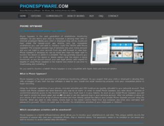 phonespyware.com screenshot