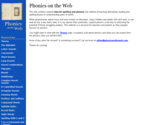 phonicsontheweb.com screenshot