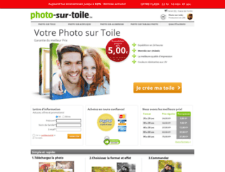 photo-sur-toile.be screenshot