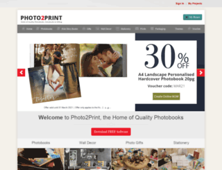 photo2print.co.za screenshot