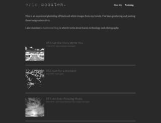 photoblog.ericscouten.com screenshot