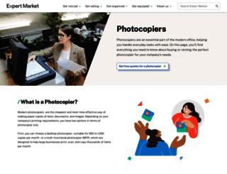 photocopiers.expertmarket.co.uk screenshot