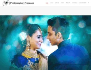 photographerprasanna.in screenshot