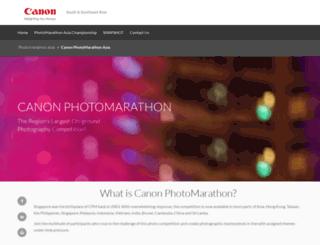 photomarathon.canon-asia.com screenshot