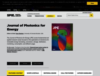 photonicsforenergy.spiedigitallibrary.org screenshot