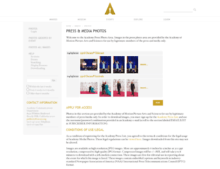 photos.oscars.org screenshot