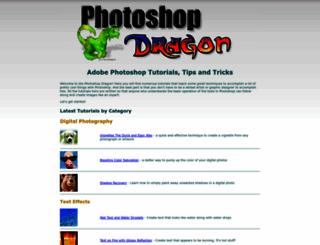 photoshop-dragon.com screenshot