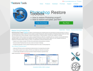 photoshop.restoretools.com screenshot