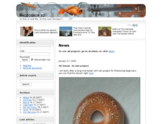 photoshop3d.com screenshot