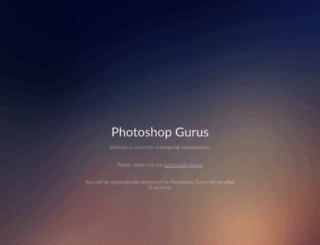 photoshopgurus.com screenshot